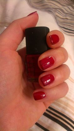 Red on red Nail Polish Designs, Pretty Nails, Red, Beauty, Cute Nails, Nail Color Designs
