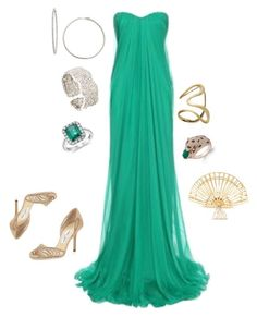 Grecian Goddess by cgm1662 on Polyvore featuring polyvore, fashion, style, Alexander McQueen, Jimmy Choo, Charlotte Olympia, Effy Jewelry, Aurélie Bidermann, Blue Nile, ANTONINI and clothing