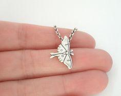 Luna Moth Necklace Pendant / Silver Moth / Fine and Sterling Silver / Black Friday Sale