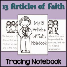 LDS Notebooking: 13 Articles of Faith Tracing Notebook