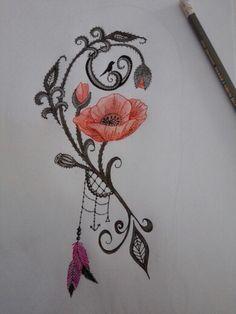 Tattoo Mohnblume …