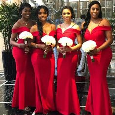Red bridesmaid dresses, Off shoulder bridesmaid dresses, Mermaid bridesmaid dresses, from BellaBridal Cheap Red Bridesmaid Dresses, Off Shoulder Bridesmaid Dress, Red Bridesmaids, Bridesmaid Dresses Plus Size, Cheap Dresses, Maid Of Honour Dresses, Maid Of Honor, Red Wedding, Wedding Gowns