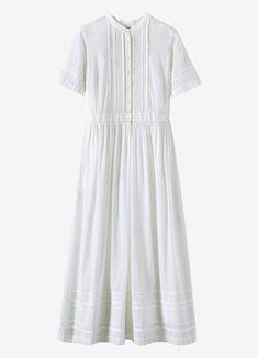 Pintuck Cotton Shirt Dress | TOAST