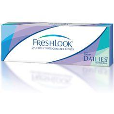 FreshLook ONE DAY- jednodniowe kolorowe, jednodniowe soczewki kontaktowe. Codziennie możesz zmieniać naturalny kolor Twoich oczu! Idealne dla osób , które chcą rozpocząć przygodę z soczewkami lub chcą nosić soczewki okazjonalnie. Kolorowe, jednodniowe soczewki kontaktowe FreshLook ONE DAY takie wygodne i łatwe w użyciu- zakładasz je i rzucasz się w wir życia.