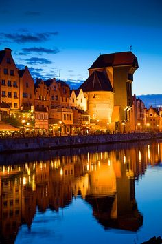 Travel Tuesday:  The Waterfront in Gdansk, Poland.  #worldtraveler