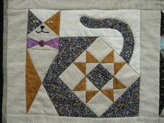 Ann Quilts: cat quilt ♥♥ See More on #Cats in Ozzi Cat #Magazine ! >> http://OzziCat.com.au ♥ ♥