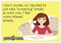 Smoking sucks...