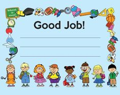 FREE Printable - Good Job Certificate