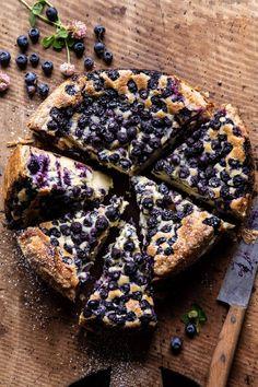 Simple Blueberry Basque Cheesecake | halfbakedharvest.com #cheesecake #blueberries #cake #easyrecipes Easy Summer Meals, Summer Recipes, Cheesecake Recipes, Dessert Recipes, Blueberry Cheesecake, Blueberry Cake, Funfetti Kuchen, Cake Calories, Frozen Puff Pastry