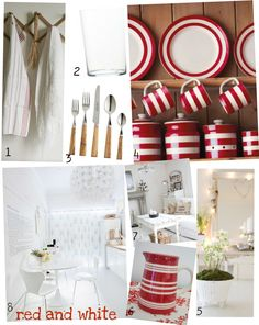 red and white kitchen | Picnik collage red and white numbered