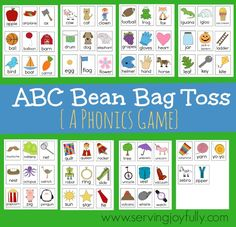 FREE Printable Game: ABC Beanbag Toss! - Blessed Beyond A Doubt