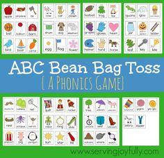 ABC Bean Bag Toss  (Free Printable Game)
