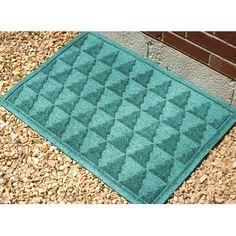 "Bungalow Flooring Aqua Shield Pine Trees Doormat Rug Size: 18"" x 28"", Color: Aquamarine"