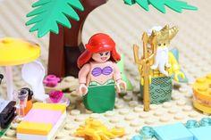 ariel the little mermaid on holidays with her dad . #lego #legos #brick #bricks #legominifigures #legominifigs #minifigs #minifigures #thelittlemermaid #legodisney #disney #holidays #holiday #ariel #beach #toystagram #toyartistry #toyphotography #toys #toy #legohub #afolclub #afol #legoart #legoaddict #legominifig #brickcentral #legostagram by that_lego_fan Lego Disney Princess, Disney Holidays, Lego Minifigs, Ariel The Little Mermaid, Lego Friends, Toys Photography, Bricks, Legos, Fan