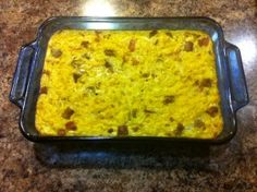 Hash browns and egg casserole. GF/DF ---- Kate's review: Big hit with our gluten free/ dairy free friend, and honestly, I loved this too.