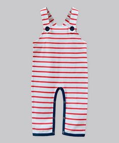 Nautical Red Stripe Overalls - Infant