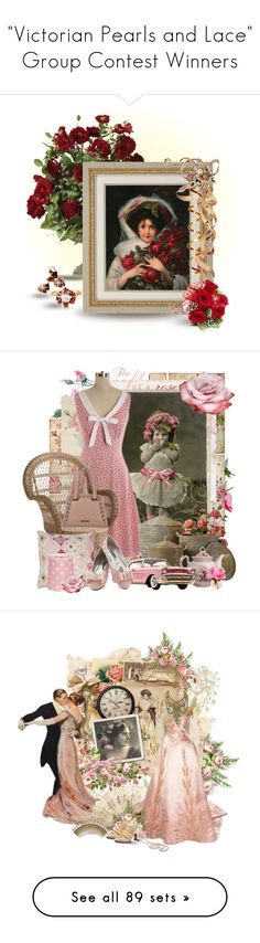 """""""""""Victorian Pearls and Lace"""" Group Contest Winners"""" by pinkfrosting2 ❤ liked on Polyvore featuring art, Pier 1 Imports, River Island, Serena & Lily, GreenGate, The French Bee, Cultura, HARRISON, WALL and Shabby Chic"""