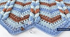 MyPicot | Free crochet patterns.Openwork wave crochet pattern:  Diagram + step by step instructions