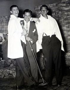 Jerry, Danny Lewis and Dean Martin