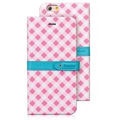"""iPhone 6 Case, Aerb Paris Series Fashion Checked Wallet Style Leather Case W Protective Back & Front Flip Cover for iPhone 6 4.7"""" - Hybrid Ultra Slim W Magnetic Clasp & Cards / ID Holders & Self-stand Design (i6 A-Pink Case) Aerb http://www.amazon.com/dp/B00N2G5W52/ref=cm_sw_r_pi_dp_GnRlub1W04NQJ"""