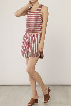 """These vintage-inspired shorts are just right for a day by the sea. Match them with the Sea Sand Tank for an extra-playful look! Dimensions: Extra small measures 11.5"""" in width at elastic waste, 3.75"""""""