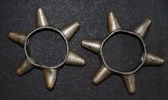 Pair of antique Naga brass heirloom arm ornaments (probably end 19° century or early 20° century) from the Konyak Nagas (inner diam. +/- 7cm). These were valuable ancestral objects no longer in use or made.  Reference: The Naga by Julian Jacobs, River Books,  pag. 264 - 265 Price: on request For more information, please email  didiergregoire03@gmail.com