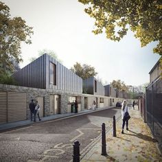 Visualisation of our Morpeth Road scheme for Peabody by Forbes Massie Brick Architecture, Architecture Visualization, 3d Visualization, Residential Architecture, Landscape Architecture, Peabody Housing, Habitat Groupé, Cgi, Social Housing