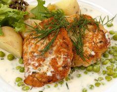 Fiskbiffar fiskburgare Gnocchi, Tandoori Chicken, Fish Recipes, Turkey, Lunch, Ethnic Recipes, Foods, Grilling, Food Food