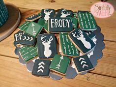 Preppy Deer Baby Shower Cookies: