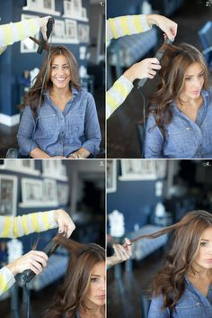 How to curl your hair with a flat iron, by Martha Lynn Kale | photos by Kate Stafford for Camille Styles