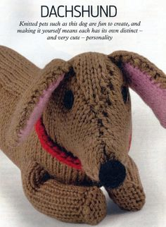 Knitted Dachshund Pattern : 1000+ images about Bassotti on Pinterest Dachshund ...