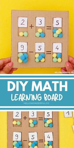 Kindergarten Learning, Preschool Learning Activities, Infant Activities, Fun Learning, Preschool Activities, Teaching, Early Math, Math For Kids, Kids Education