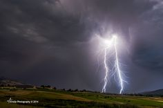 Storms Fury - Storms Fury Twin bolts of lightning strike down during a storm. Photography by Scott Hubert