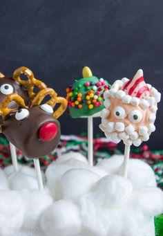 Christmas Marshmallow Pops - I Wash You Dry Christmas Cake Pops, Christmas Sweets, Christmas Goodies, Christmas Candy, Christmas Baking, Christmas Crafts, Best Christmas Recipes, Homemade Christmas, Fun Christmas Activities