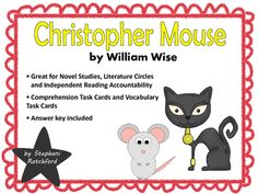 Christopher Mouse: The Tale of a Small Traveler Comprehension and Vocabulary Task Cards