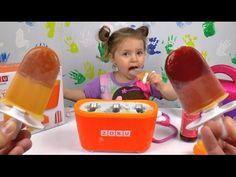 Доктор Плюшева Варя готовит мороженное на палочке фруктовый лед Zoku qui...