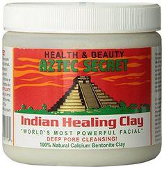 Aztec Secret  Indian Healing Clay  1 lb. | Deep Pore Cleansing Facial & Healing Body Mask | The Original 100% Natural Calcium Bentonite Clay