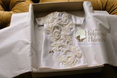 NICU Helping Hands Program called Angel Gown recycles wedding gowns to make beautiful outfits for families who's babies have passed away in the NICU. Angel Gowns, Angel Dress, Recycled Wedding, Premature Baby, Infant Loss, Mom Dress, Baby Gown, Baby Knitting, Repurposed