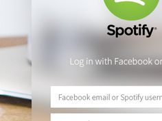 Spotify Login by Nacho Ortega
