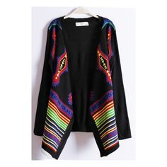 Black Long Sleeve Geometric Pattern Scarf Sweater (115 BRL) ❤ liked on Polyvore featuring tops, sweaters, sheinside, black sweater, geometric print sweater, geometric sweater, long sleeve tops and long sleeve sweaters