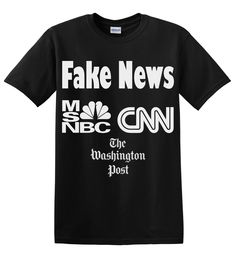 Fake News T-Shirt Unisex Mens Womens Tee Media Lies About CIA Report of Russia Hacking Election for #Trump by TimeofReason on Etsy