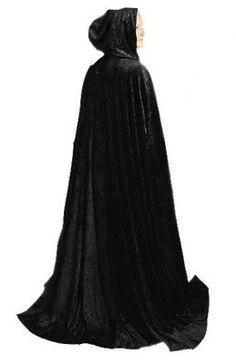 586c17ba7b8 Capes Coats and Cloaks 155345  64 Black Adult Long Cloak Durable Full-  Hooded Midnight