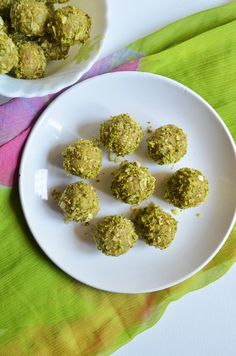 Easy coconut pistachio laddu Very soft and delicious laddu with coconut and subtle pistachio flavor,easy sweet with in 15 minutes,recipe @ http://cookclickndevour.com/2014/09/coconut-pista-ladoo-recipe.html