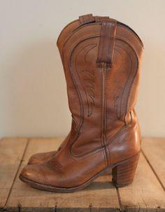 Vintage Womens Cowboy Boots Dexter High Heels Size 7