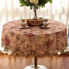 [ 26% OFF ] Elegant European Rustic Round Tablecloth,luxury Brand Royal Table Decoration,designer Home Choice Table Cloth