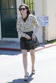Emmy Rossum Mini Skirt