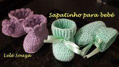 sapatinho botinha de crochê para bebê Crochet For Kids, Crochet Baby, Knit Crochet, Baby Shoes, Crochet Patterns, Knitting, Clothes, Youtube, Crochet Baby Bonnet