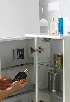 Spiegelschränke für Ihr Bad sparen Platz und bieten praktischen Stauraum. Denn mit einem Badezimmer-Spiegelschrank bedarf es keinem separaten Spiegel, der zusätzlich an Ihrer Wand angebracht werden muss. Cabinet, Storage, Furniture, Home Decor, Bathroom Mirror Cabinet, Closet Storage, Clothes Stand, Purse Storage, Decoration Home