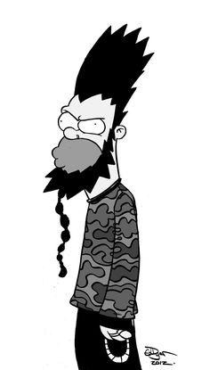 Wayne Static, Static X, Krusty The Clown, Simpsons Art, Band Posters, Mural Painting, Music Is Life, Rock Music, Rock Art