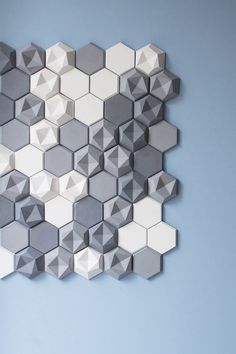 Hexagonal Wall Tiles by Kaza Concrete-1 – Fubiz™